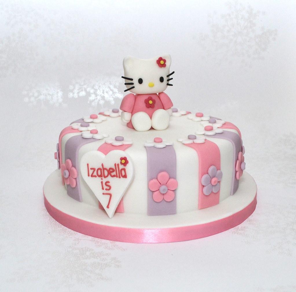 Maries Manor Hello Kitty: Purple And Pink Hello Kitty Birthday Cake