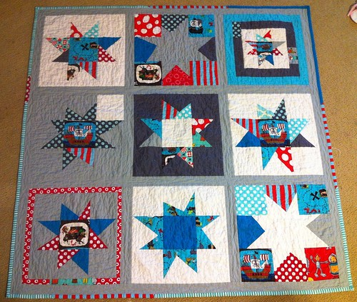 wonky star pirate quilt. | by rainbow robot