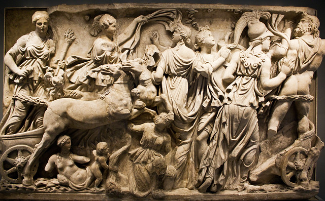 Sarcophagus Panel Depicting the Abduction of Persephone ...