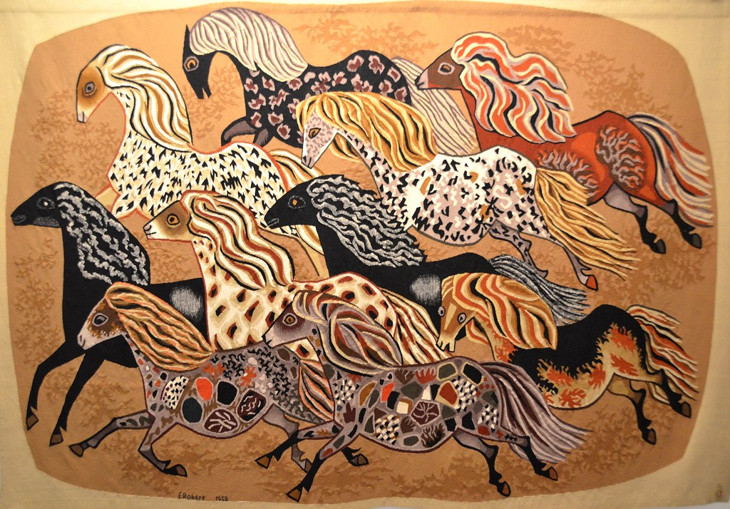 Tapisserie de dom robert heurtebise carton de 1958 - Galerie nationale de la tapisserie beauvais ...