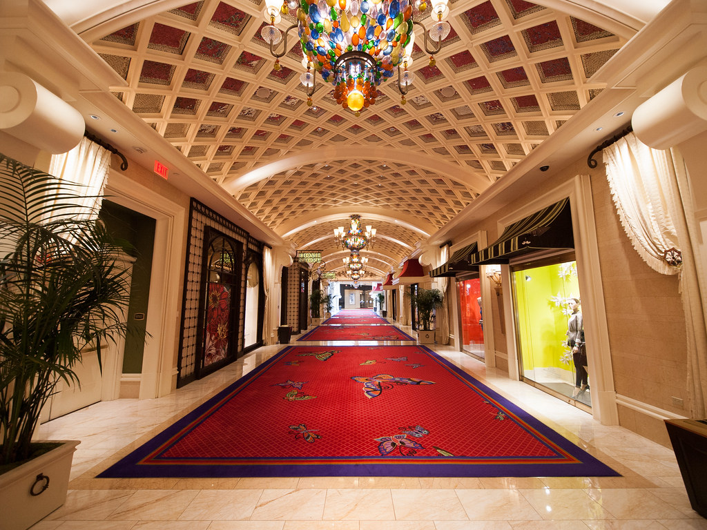 Hallway Hallway At The Wynn Hotel In Las Vegas Nevada