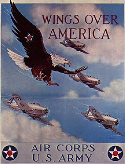 World War II Poster - Wings Over America