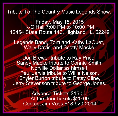 Country Music Legends 5-15-15