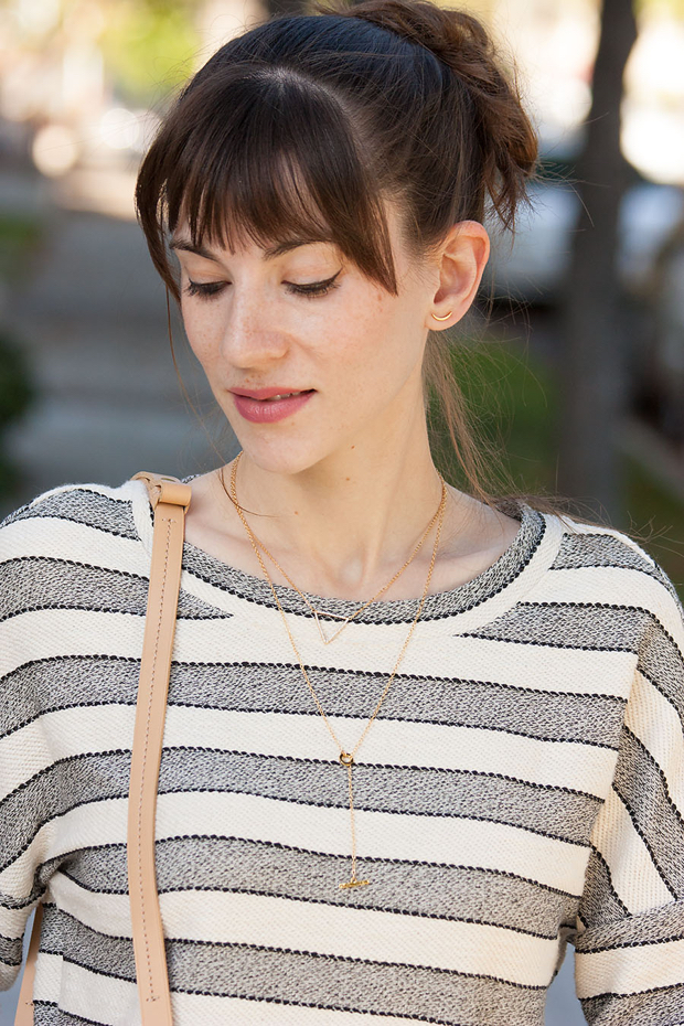 Rocksbox Jewelry, Striped Top, Gorgana