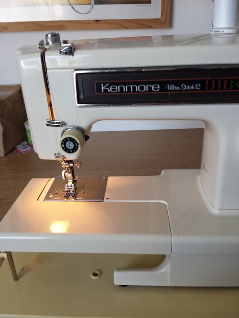 The machine I learnt to sew on