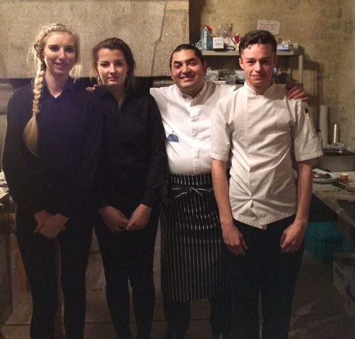 Penwith College learners with French chef