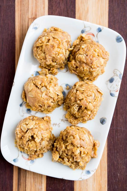 Peanut Butter Pumpkin No Bake Cookies | cookingalamel.com