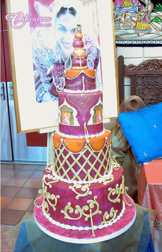 Cakeaters Edible Arts : Indian wedding cake Cakeaters Edible Art Flickr