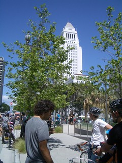 View of City Hall from Spring Street during CicLAvia | by ubrayj02