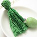 Green Easter Egg Beaded Tassel