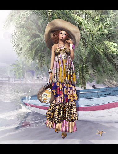 Baiastice - Zoroaide Mesh Maxi Dress-Multi-sungold | by Lila Quander