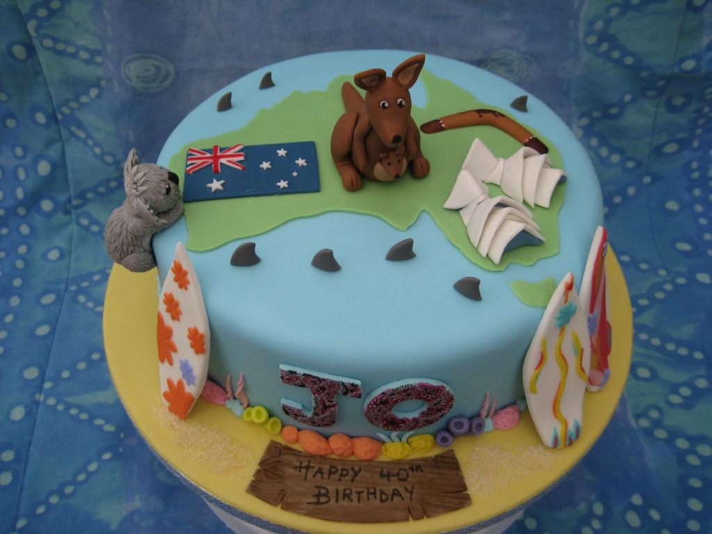 Australian Cake 40th Birthday cake for an Australian ...