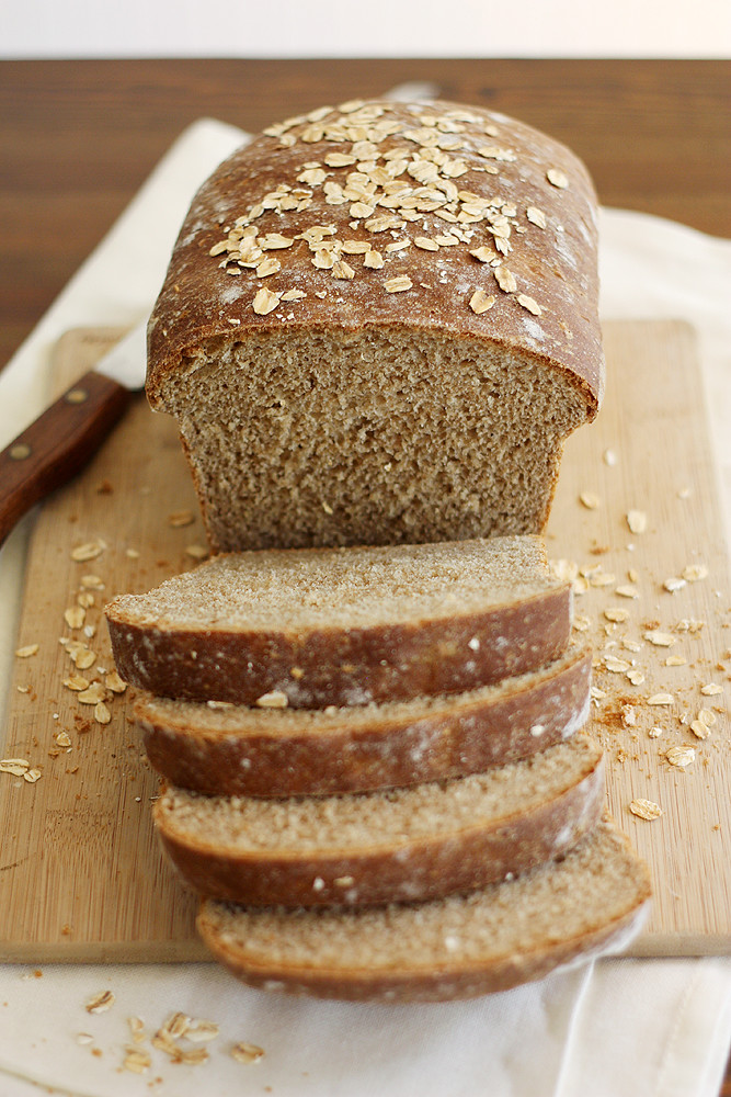 whole wheat honey oatmeal bread | girlversusdough | Flickr