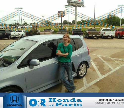 congratulations to lisa valenzuela on your honda fit fro