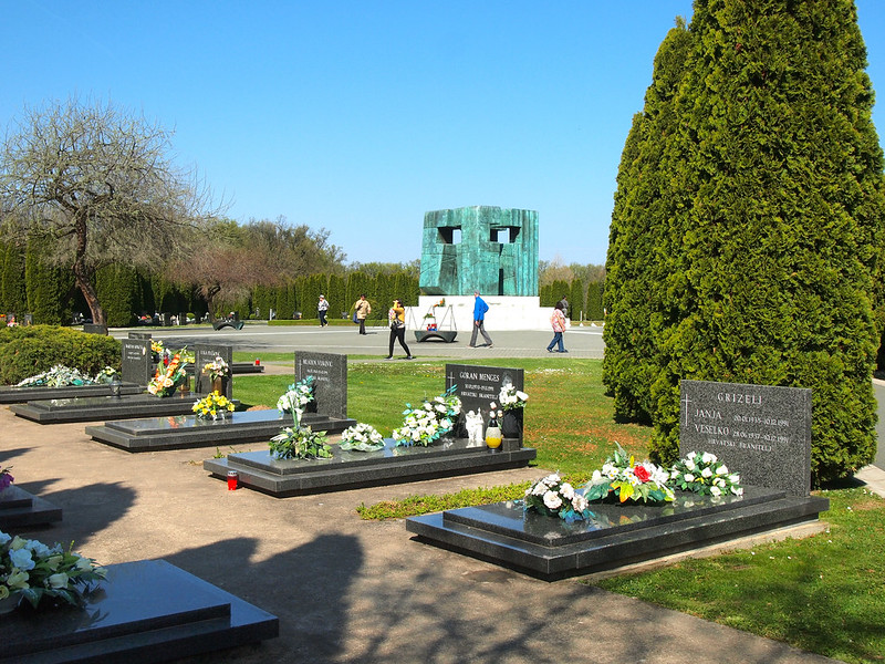 Cemetery and War Memorial in Vukovar, Croatia
