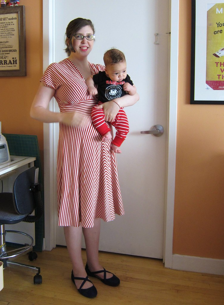 Me Made May 17: Red & White Stripes