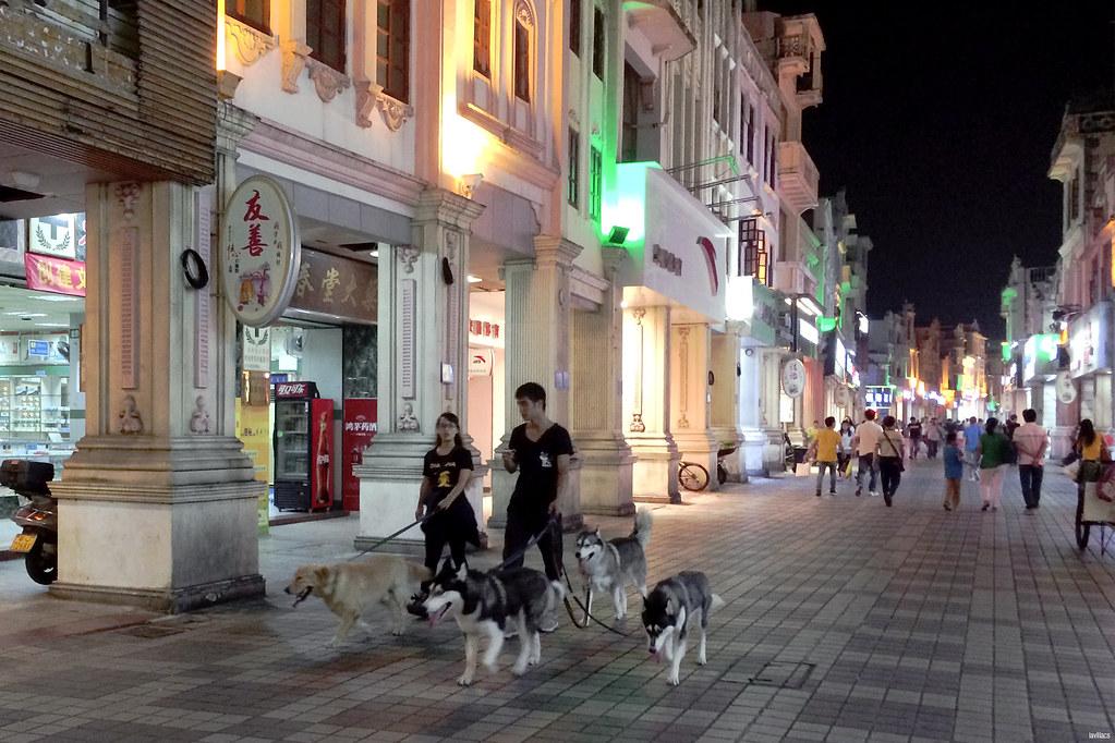 Pedestrian Street Buxingjie Taishan China