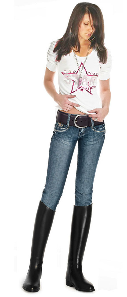 Jeans Wide belt and Riding boots 2 | I love wearing belts | Kelsee | Flickr