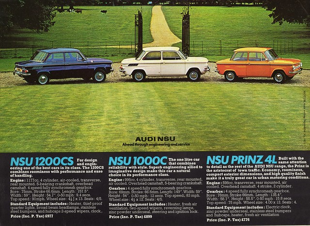 1971 nsu 1200cs 1000c prinz 4l flickr photo sharing. Black Bedroom Furniture Sets. Home Design Ideas