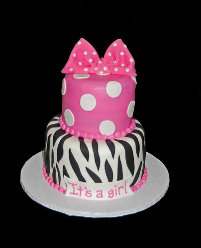 Minnie Mouse Zebra Print Baby Shower: Hot Pink Polka Dots And Zebra Print For A Minnie Mouse