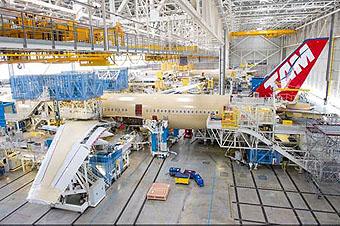 TAM A350-900 montaje (Airbus)