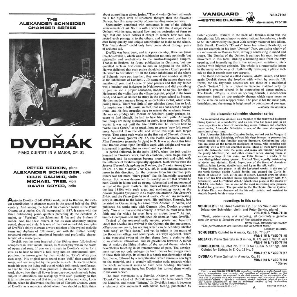 Antonin Dvorak - Piano Quintet  b