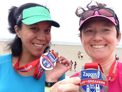 Obligatory beach medal picture