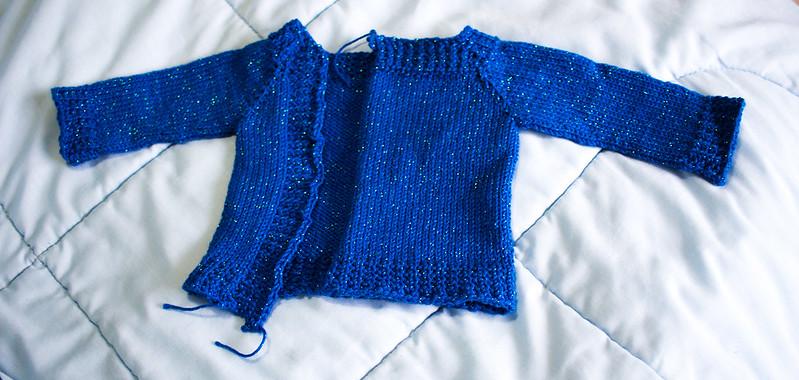 Slightly lopsided starry sweater