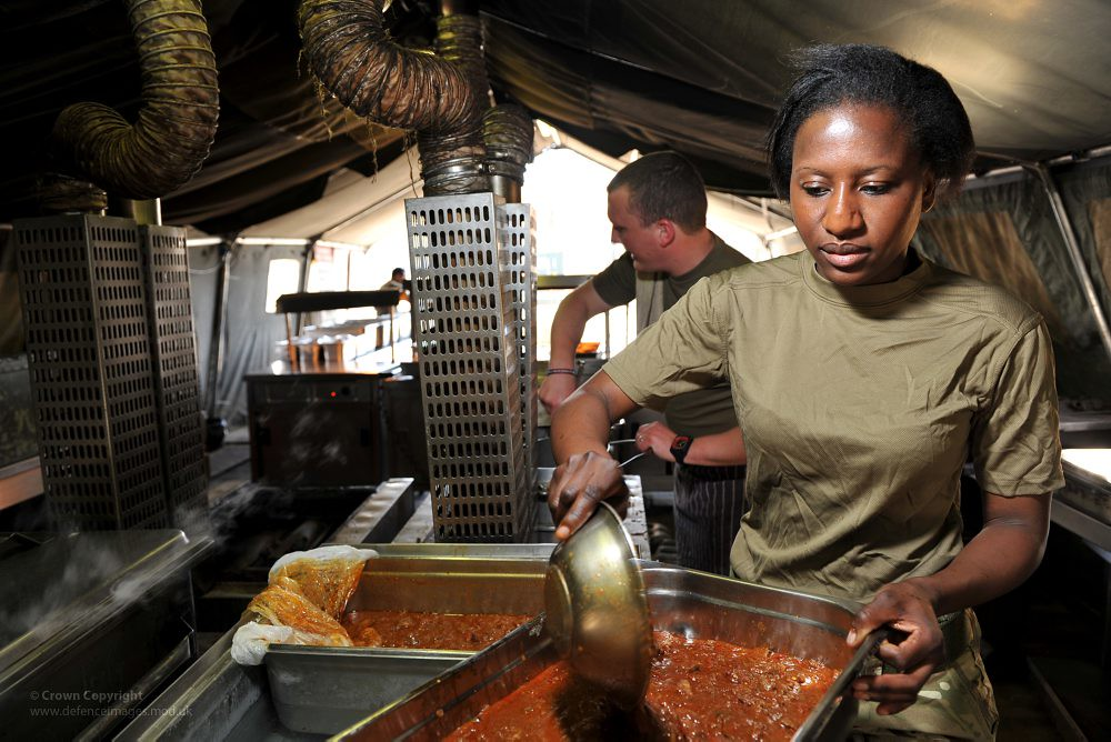 Army Chefs Working In A Field Kitchen In Afghanistan Flickr