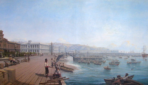 Thomas Jacques Somerscales. Antiguo Muelle de Valparaíso (Muelle Prat)