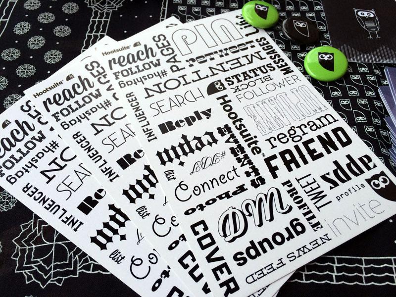 Hootsuite Ambassador #HootAmb Kit Stickers