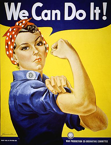 World War II Poster - We Can Do It!