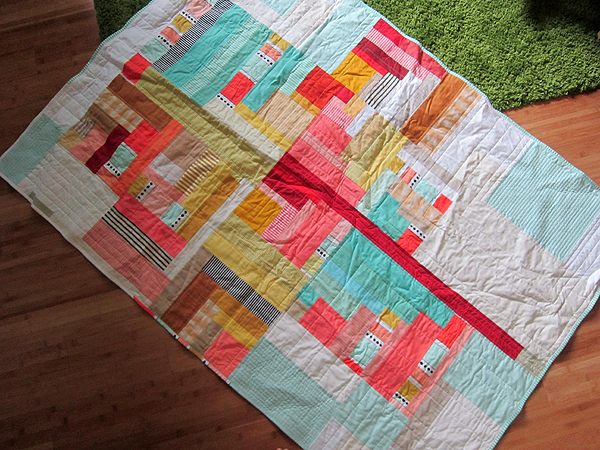 Ice Parfait quilt finished!