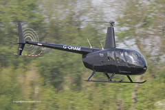 G-OHAM - 2005 build Robinson R44 Raven II, inbound to Barton for fuel