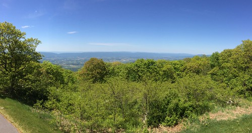 View from rear of Big Meadows Lodge, Shenandoah National Park