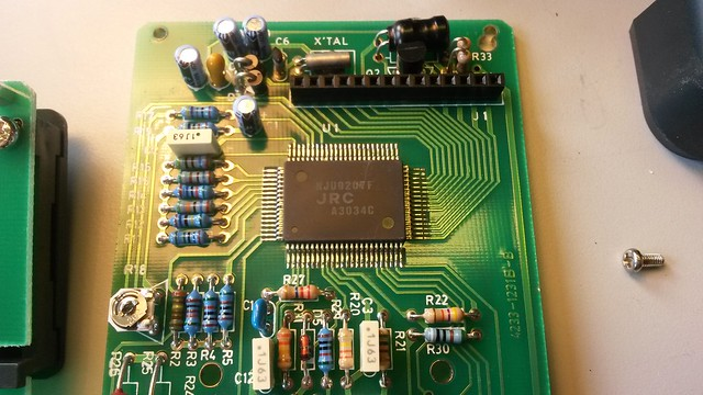 A closeup on the main chip. It drives directly the LCD screen.