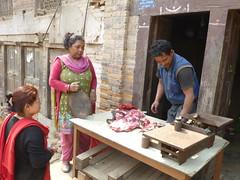 Fleischhändler in Bhaktapur