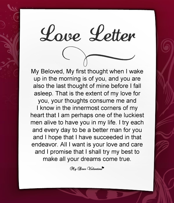 Love Letters To Girlfriend On Valentine