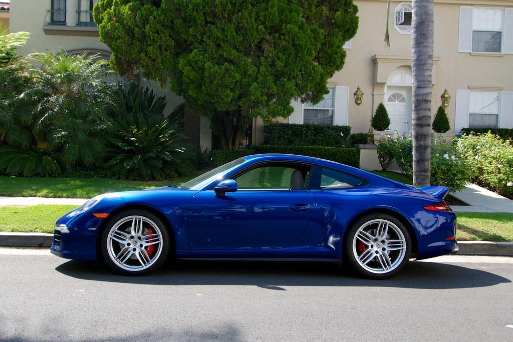 2013 Porsche 911 Carrera 4s Sport Design Aqua Blue On Blac