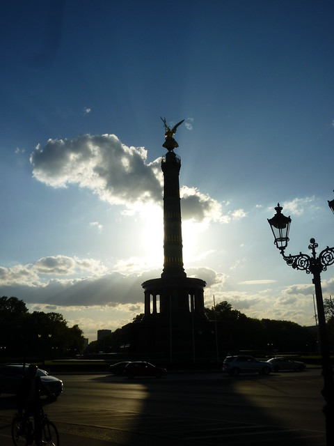Victory Column in Silhouette