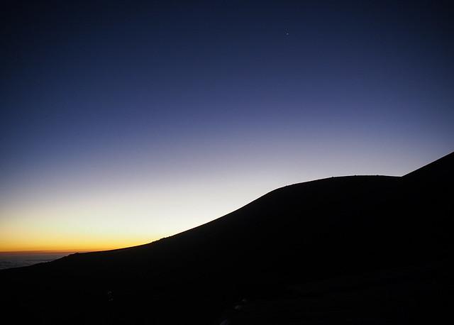 Venus over Mauna Kea
