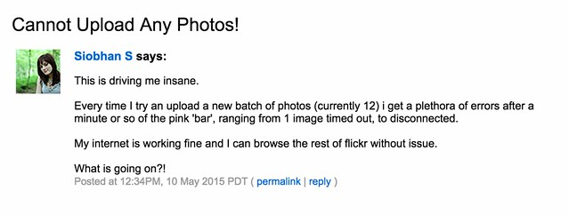 Flickr Weekend Upload Problems