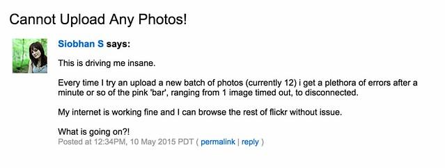 Flickr Weekend Upload Problems