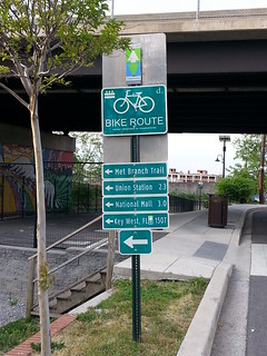 Metropolitan Branch Trail sign.