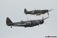 G-BPIV L6739 Q-YP - Fairchild Bolingbroke IVT (Bristol Blenheim 1F) & G-MKIA P9374 J - Supermarine 300 Spitfire Mk1A - Duxford, Cambridgeshire - 150523 - Steven Gray - IMG_2684