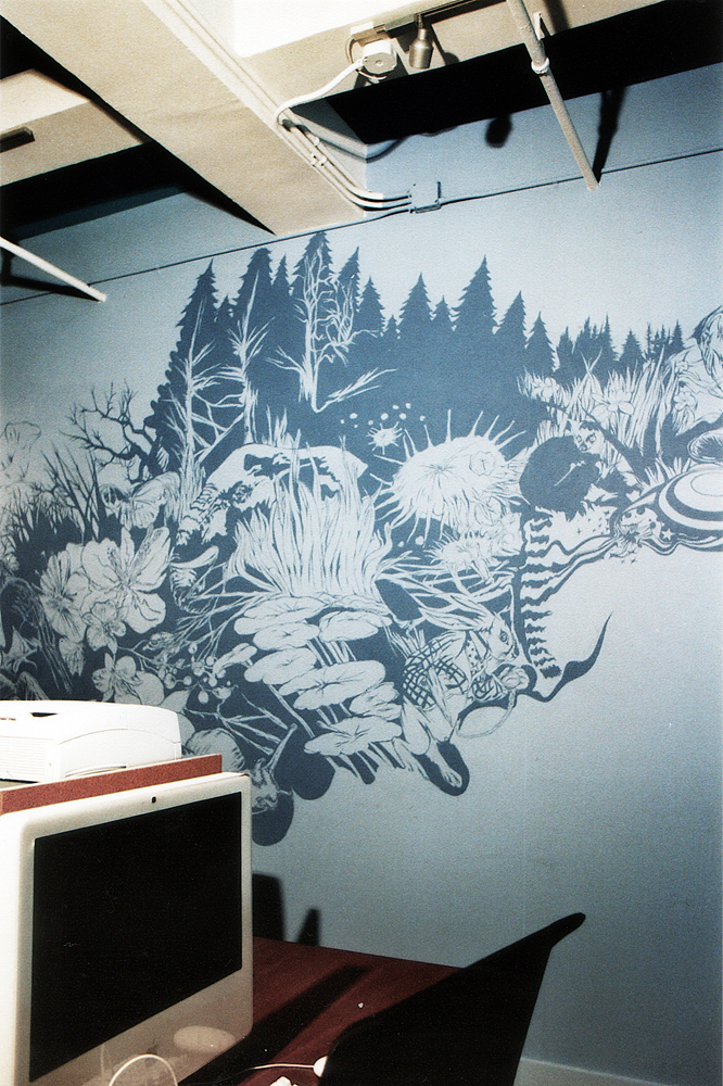 mural at The Wonderfactory office 2