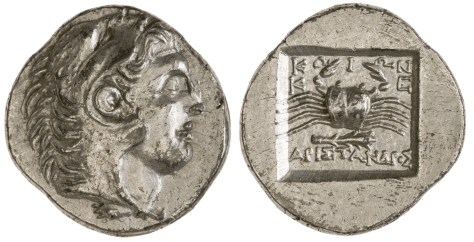 silver drachm from the island of Cos