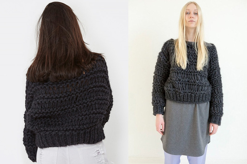 Hand-Knitted Crop Jumper by Von Sono