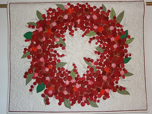 Red Berry Wreath | by Hillside Quiltworks