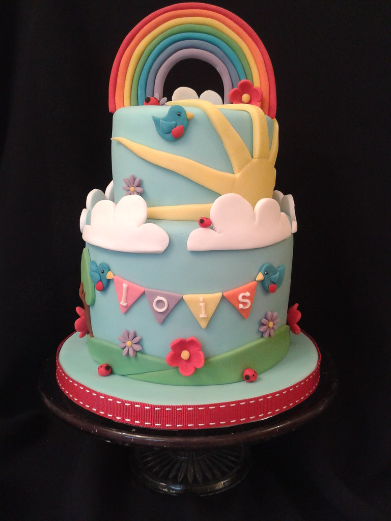 Birthday Cake Rainbow Design : rainbow cake Julia Hardy Flickr